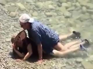 Old Couple Fucking Outside At The Beach