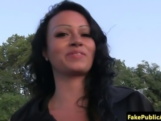 Outdoor cumswallowing hungarian being rammed