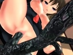 Anime 3d girl gets double fucked by tentacles