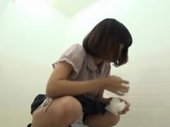 Peeing asians toilet cam