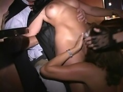 Flexible MILF and friends fuck in Trapeze sex club free