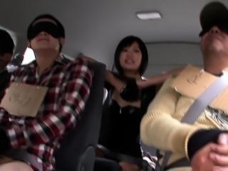 Japanese fantasy babes dominating guys on bus