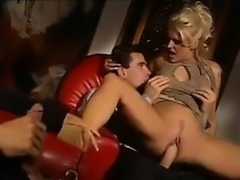 Double Penetrated Blonde Babe From Italy