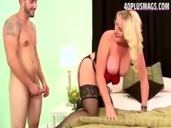 Blonde 45yo milf in hot lingerie anal free