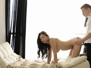 Sexy wife first cum swallow