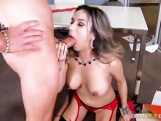 Nadia Styles has sex in office.