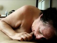 Amateur Brunette Grandma POV cocksukcing