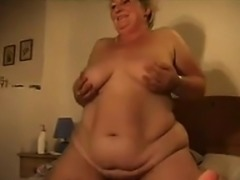 Big Amateur Grandma Enjoying A Cock