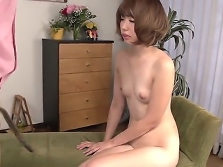 Sexy japanese porn diva Seira Matsuoka shows off her sexy nude body as she plays with vibrator for the camera. Exotic big ass woman stimulates her wet snatch and then takes lucky dudes dick.