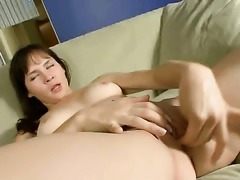 Jasha bares all and fucks herself with her fingers
