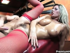 Daria Glower with massive jugs is a sex addict that loves mans erect love...