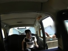 Tattooed Brit banged in fake taxi