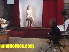 First casting interview with fresh 18yo teen