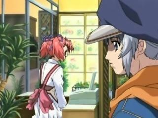 Japanese anime guy gets handjob