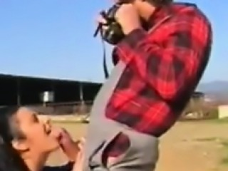 Sucking Some Cock Outdoors At The Farm