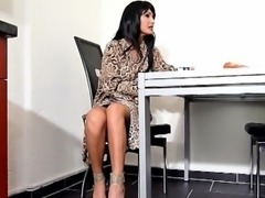 German Beauty Step-Mom Help Step-Son with Handjob