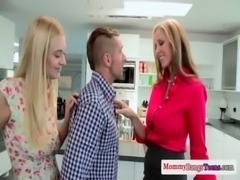 Milf seduces teens into some threeway fun free
