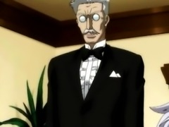 Shemale anime maid self masturbating in the bathtub