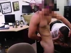 Amateur MILF sucking a big cock for cash on spycam
