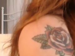 Beautiful Redhead Toying her Tight Pussy