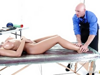 Johnny Sins cant resist unbelievably hot Capri Cavannis acttraction and fucks...