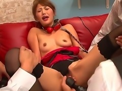 Mei Aso is the Japanese crazy bitch that loves having her limbs tied and then...