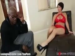 LexingtonSteele 11 inch Black Cock Goes in MILF Shay Fox free