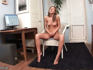 Inna is on the way to the height of pleasure with toy in her love hole