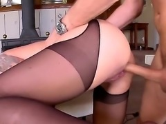 Its time for some big ding dong for Nina Elle. This blonde chick in black...