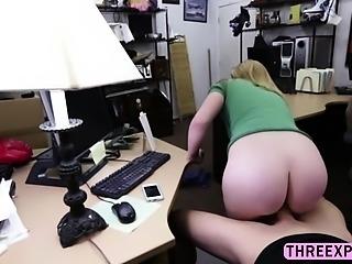 Fantastic blonde bounces his ass