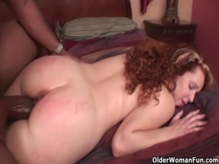 Mom gets stuffed with big black cock free
