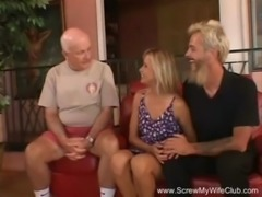 Happy Blonde Swinger MILF free