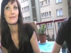 Dark haired Melyna analfucked free