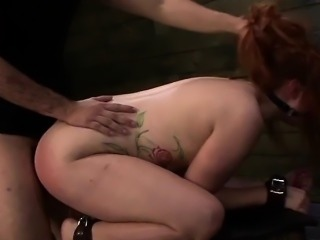 BDSM Slut Rose Red Tyrell Endures Rough Anal Sex