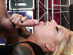 James Deen gets pleasure from fucking passionate Britney Shannons back yard