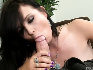 Ally Style gives deep blowjob to horny bang buddy