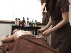 Milf lesbian having a pussy massage