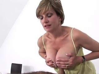 Sexy model first handjob