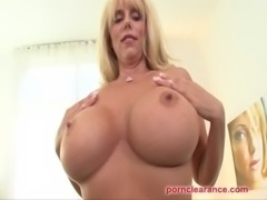MILF With Huge Tits Swallows Big Cock And Cumshot free