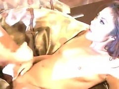 Look at the sexy Kaylani Lei getting a hard dick into her ass in an anal...