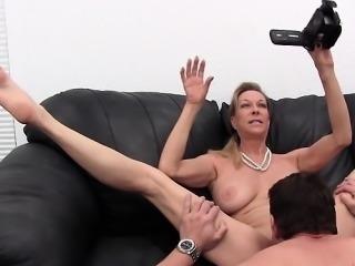 Busty wife swallow