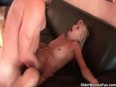 Soccer mom Payton Leigh gets trashed by fat cock free