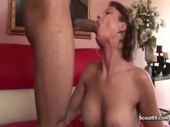 German Milf with perfect body fucked by black monster cock free