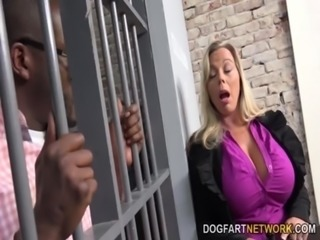Amber Lynn Bach Fucks A Black Guy In A Prison free