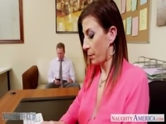 Brunette milf Sara Jay fucking in the office free