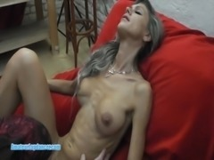 Skinny MILF lapdances, gives BJ and fucks in few positions free