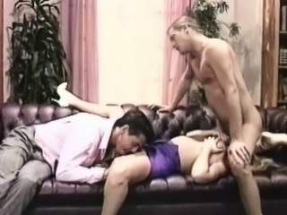 Busty girl in a threesome