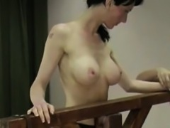 Brunette Sub Get Finest Whipping For Real