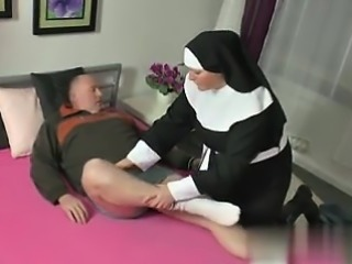 Met her on BBW-CDATE.COM - German Grandma Nun get Fucked wit