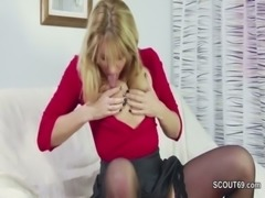 Young Boy caught German Step-Mom Masturbation and helps free